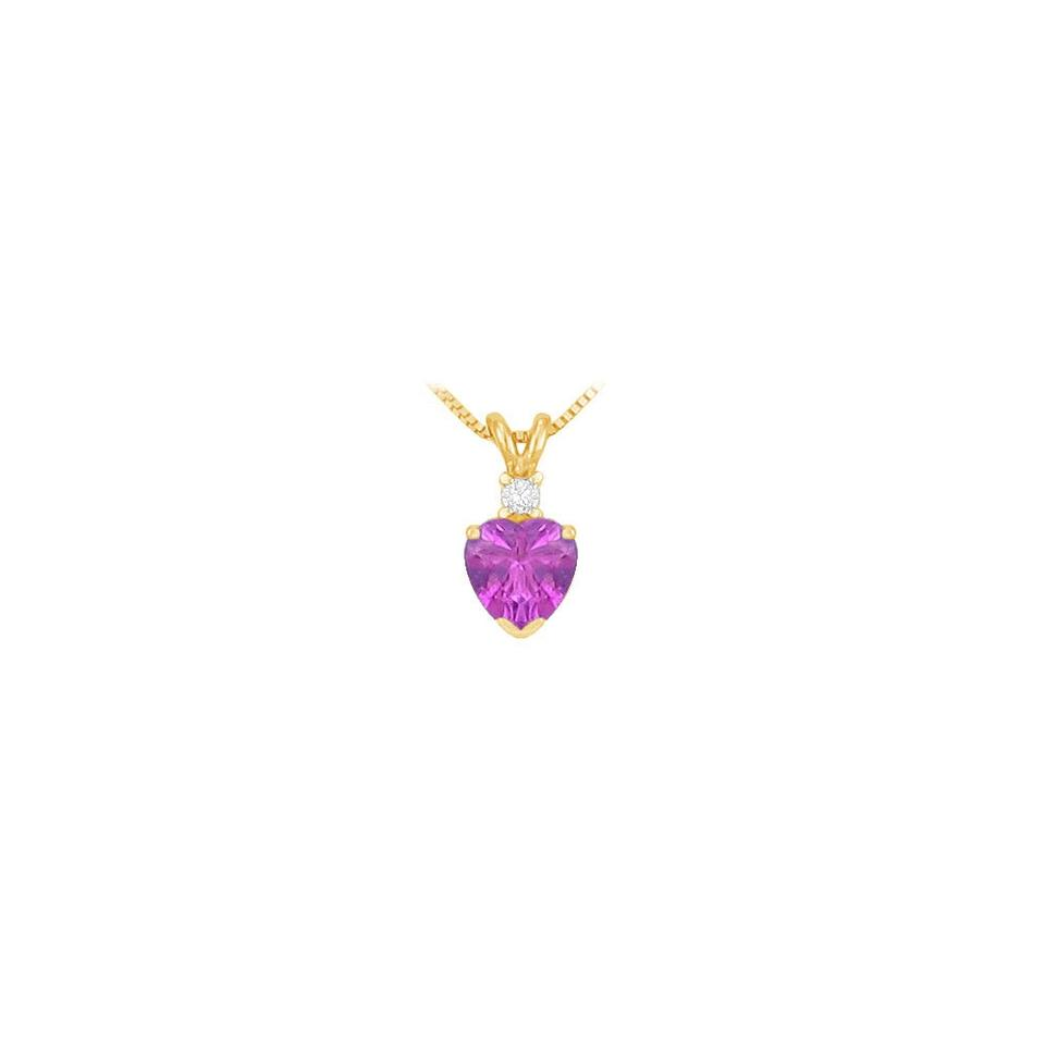 and pink gold chain purple sapphire pendant cable on amethyst rose diamond sappire product