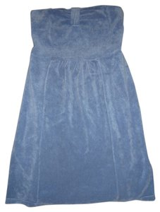 Juicy Couture short dress Blue Strapless on Tradesy
