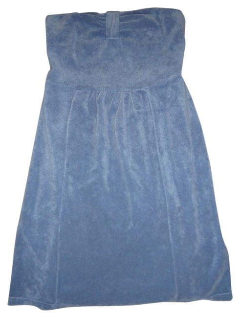Juicy Couture short dress Blue Sundress Strapless on Tradesy