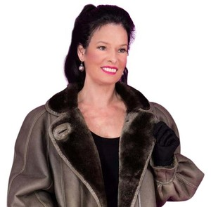 Saga Furs Black Mink Mink Shearlling Lamb Fur Coat