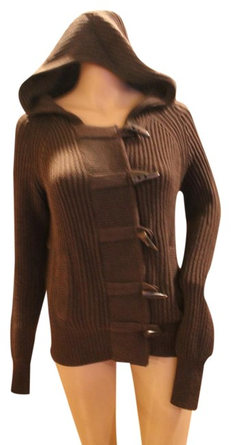 Item - Brown Hooded Toggle Zip S Cardigan Size 6 (S)