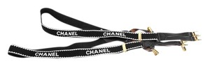 Chanel * Chanel Black And White Suspenders