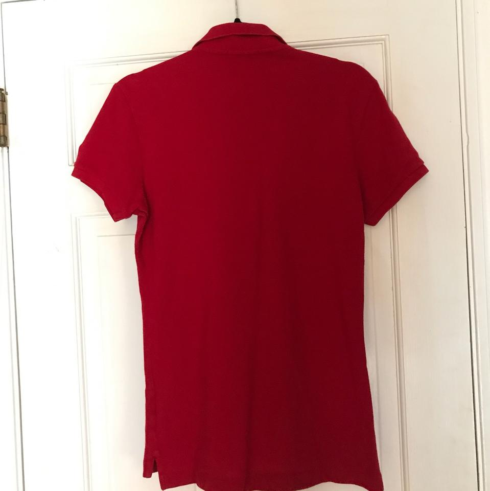 Down Size Ralph Lauren 12l65Off Retail Red Skinny Button Top The Polo 15uJc3lTFK