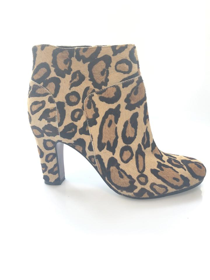 73201f902 Sam Edelman Animal Print Salina Calf Hair Boots Booties Size US 6.5 ...