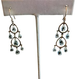 93841a9132a1 Tiffany   Co. Tiffany   Co Gold and Aquamarine Briolette Chandelier Earrings
