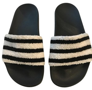8807012d711 adidas Striped Rubber Black and white Sandals