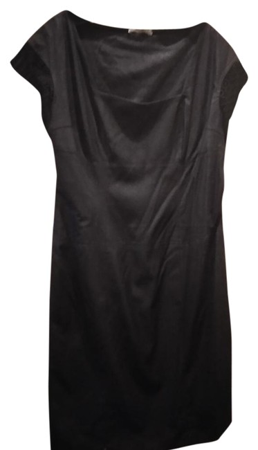 Item - Black Made In Italy 48 Fitted Mid-length Work/Office Dress Size 12 (L)