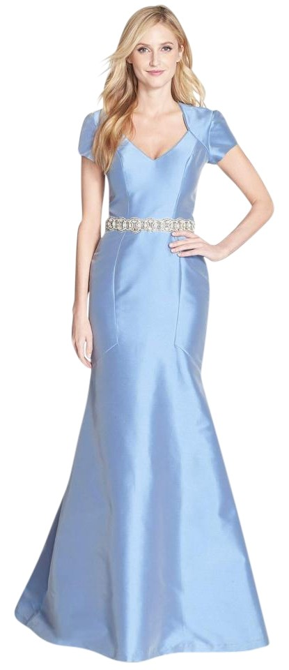 Theia Powder Blue Embellished Cutout Mermaid Gown 882358 Long Formal ...