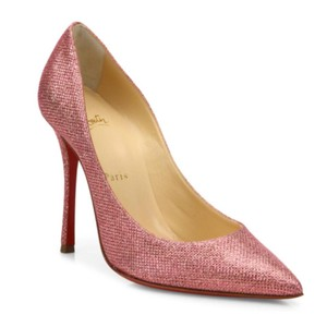 Christian Louboutin Decoltish Stiletto Pigalle Glitter Metallic Pink Pumps