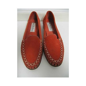Saks Fifth Avenue Womens Red Reds Flats