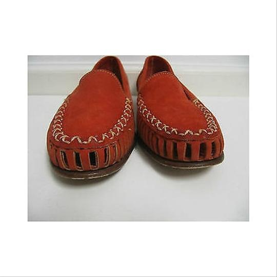 Saks Fifth Avenue Womens Red Suede Loafers Moccasin 6015 Reds Flats