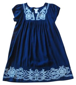 One Clothing Empire Waist Peasant Embroidered Tunic