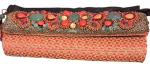 Mary Frances Beaded Coral multi Clutch