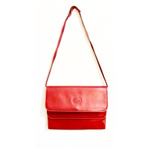 Gucci Vintage Leather Removable Strap Red Clutch