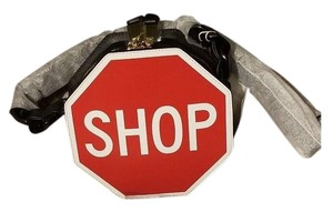 Moschino Couture Stop Sign Leather Love Cross Body Bag