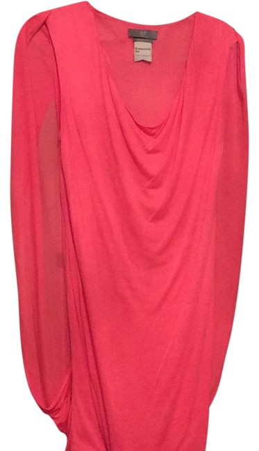 Item - Corral / Apricot Color Unusual Mid-length Cocktail Dress Size 10 (M)