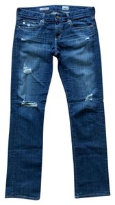 AG Adriano Goldschmied Relaxed Fit Tomboy Distressed Boyfriend Cut Jeans-Distressed