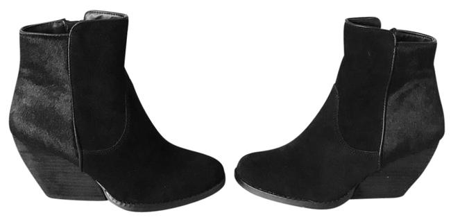 Item - Black Suede Pony Hair Feral Boots/Booties Size US 6 Regular (M, B)