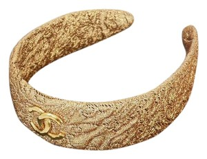 Chanel Rare Vintage Chanel Gold Brocade Head Band