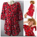 Anthropologie Red New Rare Farm Rio Cat Yarn Short Casual Dress Size 6 (S) Anthropologie Red New Rare Farm Rio Cat Yarn Short Casual Dress Size 6 (S) Image 4