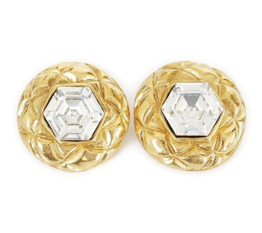 Preload https://img-static.tradesy.com/item/22265495/chanel-gold-1980s-rare-vintage-crystal-stone-earrings-0-0-540-540.jpg