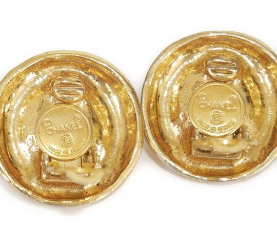 Chanel 1980s Rare Vintage Chanel Crystal stone Gold Earrings Image 2