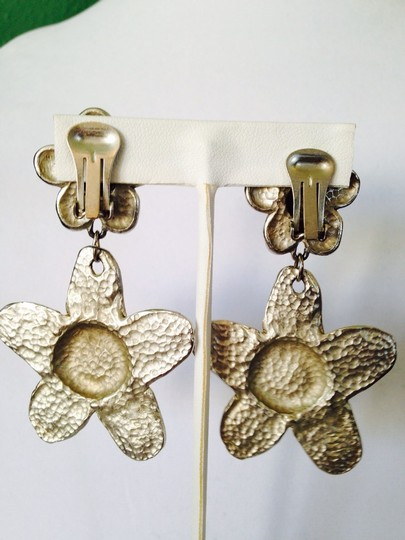 Other NWOT Large Statement Hammered Flower Earrings