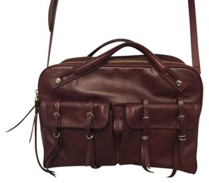 Banana Republic Satchel in Burgandy