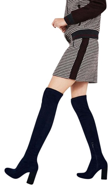 Item - Navy Blue New Over The Knee Stretch Leg Tall Boots/Booties Size US 9 Regular (M, B)