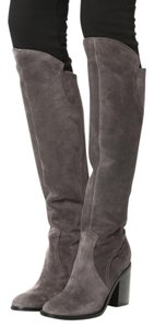 Sigerson Morrison Knee Pull On Grey Boots