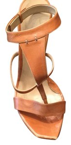 CoSTUME NATIONAL camel leather Platforms