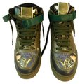 Valentino Rockstud Camouflage High-top Leather Green Camo Multicolor Athletic