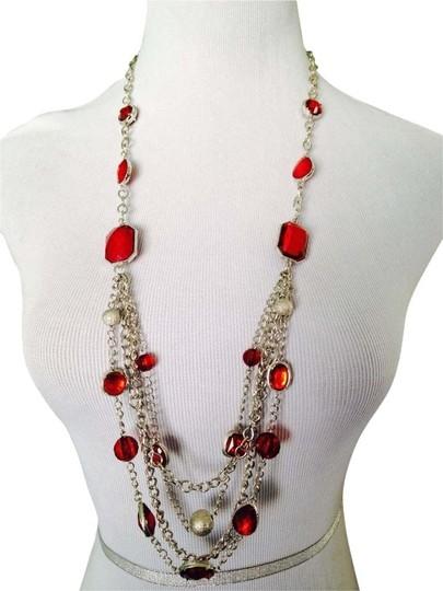 Preload https://item4.tradesy.com/images/redsilver-nwot-trinwot-4-strand-faceted-glass-silver-tone-long-necklace-2226663-0-0.jpg?width=440&height=440