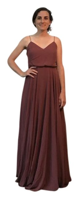 Item - Cinnamon Rose Poly-chiffon; Polyester Lining Inesse Formal Bridesmaid/Mob Dress Size 2 (XS)