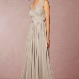 BHLDN Grey Tulle Lace Nylon Fleur Formal Bridesmaid/Mob Dress Size 6 (S)