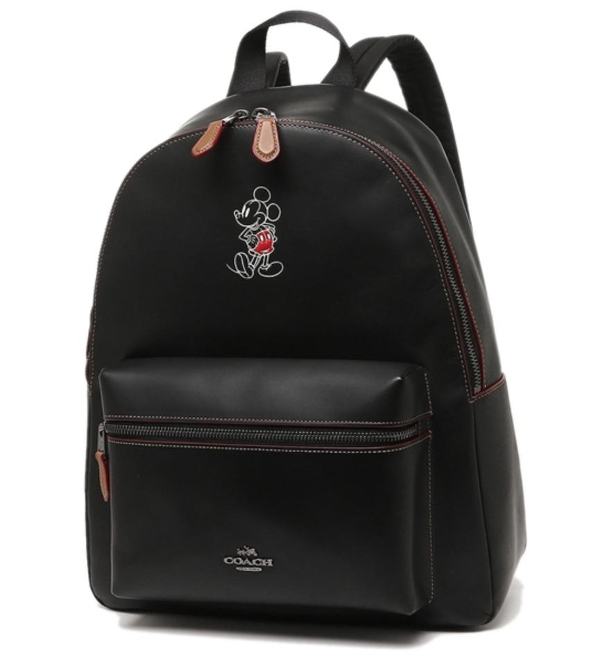 64aad47fa13 Coach F59378 Charlie Mickey Mouse Disney X Black Leather Backpack ...