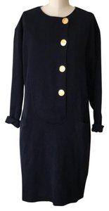 Harvé Benard short dress navy blue on Tradesy