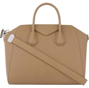 Givenchy Antigona Leather Tote Satchel in Beige