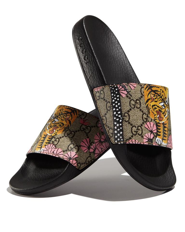 Gucci Multicolor Women\u0027s Pursuit Bengal Slide Sold Out Sandals Size US 6  Regular (M, B)