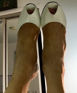 Stuart Weitzman White/Silver New W. Patent Leather And Wedges Size US 5.5 Regular (M, B)