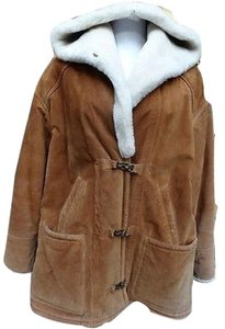 Gallery Shearling Suede Leather Coat