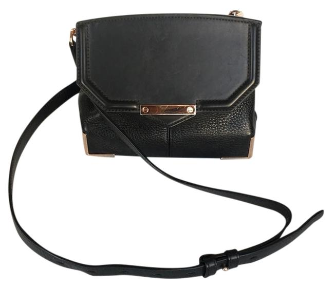 Item - Marion In Pebbled Black Leather Cross Body Bag