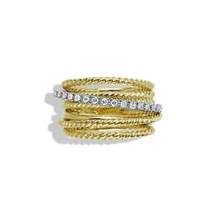 David Yurman David Yurman 18k crossover ring