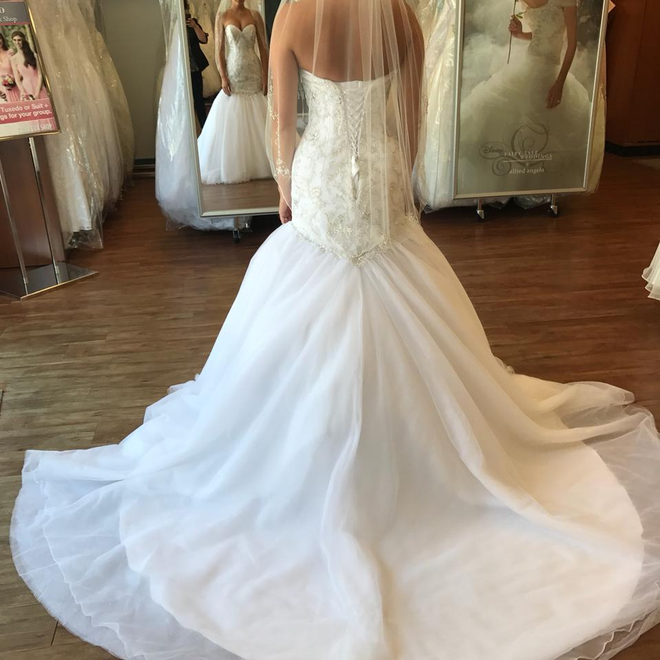 5ddad16425b Alfred Angelo White Tulle Ariel Sexy Wedding Dress Size 4 (S) Image 3. 1234