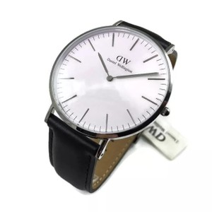 Daniel Wellington 0206DW DANIEL WELLINGTON CLASSIC SILVER BLACK WATCH 40mm