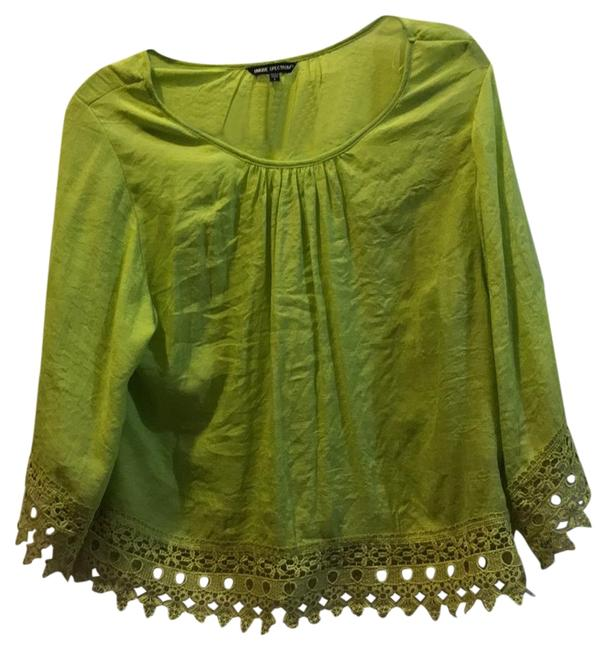 Item - Lime Green Na Blouse Size 12 (L)