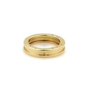 BVLGARI Bulgari B Zero-1 18k Yellow Gold 5mm Band Ring Size EU 54 - US 7