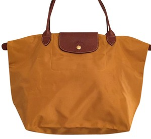 "Longchamp Tote in ""Curry"" Gold"