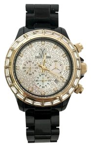 ToyWatch ToyWatch Black and Gold Crystal Watch