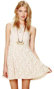 Free People short dress Ivory Miles Of Lace Fit & Flare Black on Tradesy